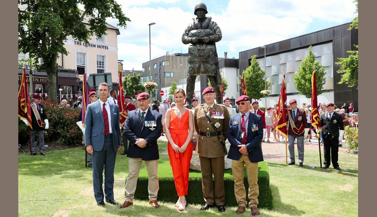 Unveiling of the 'Airborne Soldier', 3rd July 2019. Princes Gardens